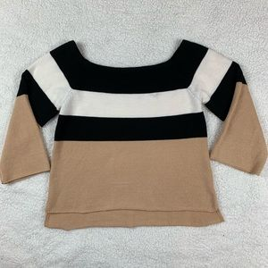 Andree By Unit M Knit Sweater 3/4 Sleeve